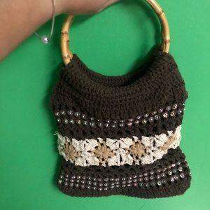 ⚡️FINAL SALE⚡️Cute brown crochet bag